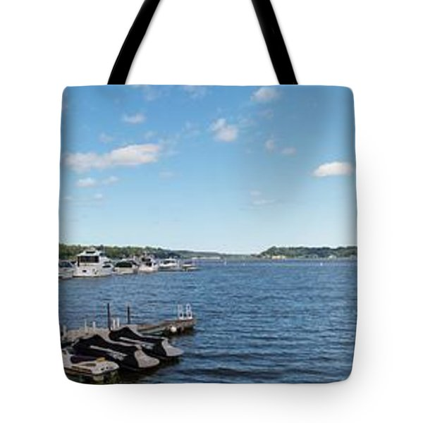 Tote Bag featuring the photograph Irondequoit Bay Panorama by William Norton