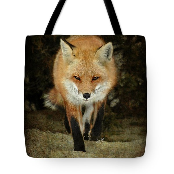 Island Beach Fox Tote Bag by Sami Martin