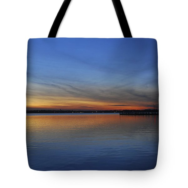 Island Heights At Dusk Tote Bag by Terry DeLuco