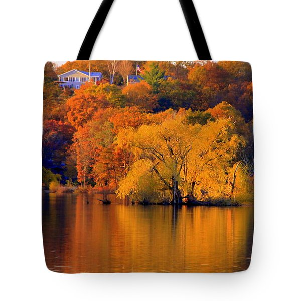 Island  In Fall Tote Bag