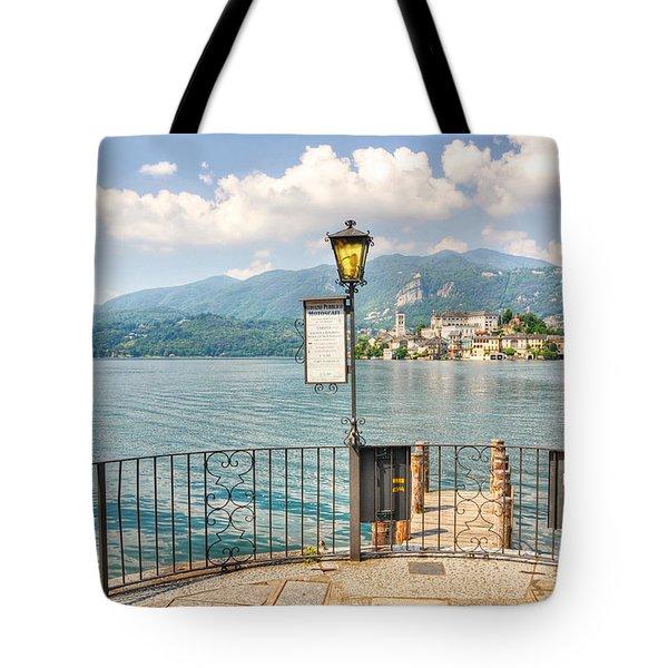 Island San Giulio On Lake Orta Tote Bag