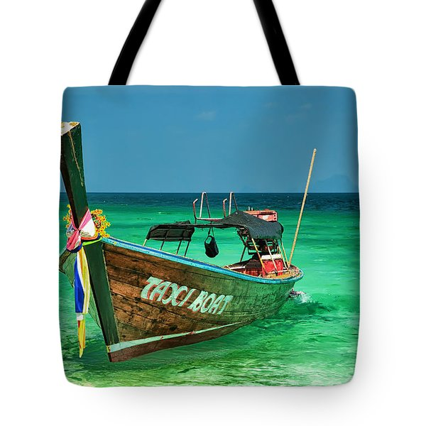 Island Taxi  Tote Bag by Adrian Evans