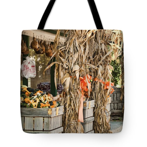 Isoms Orchard In Fall Regalia Tote Bag by Kathy Clark