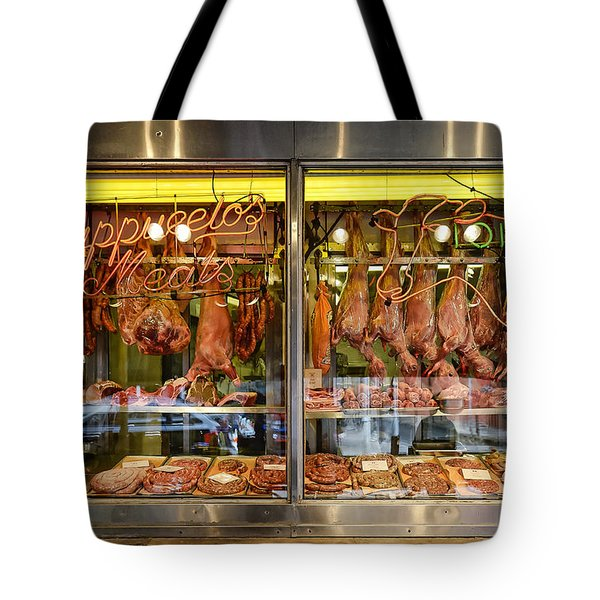 Italian Market Butcher Shop Tote Bag by John Greim