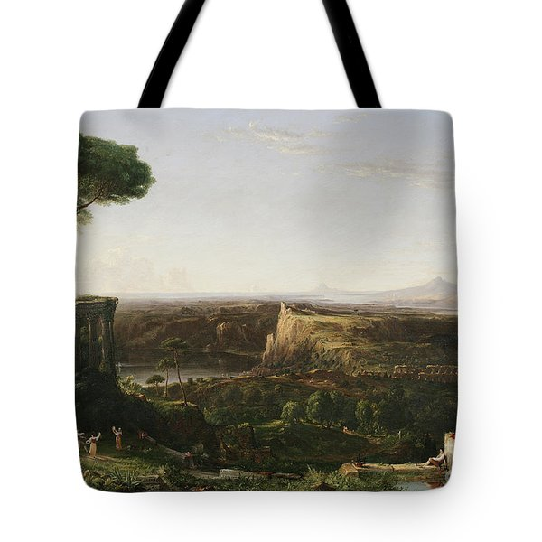 Italian Scene Composition Tote Bag by Thomas Cole