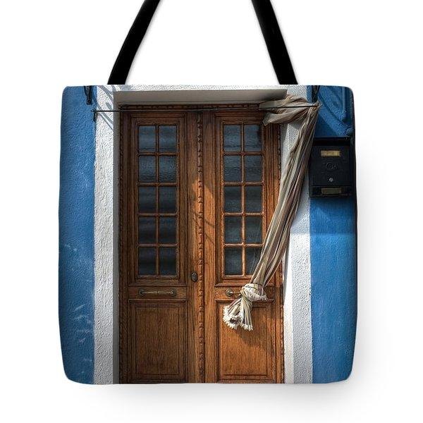 Italy Old Door Tote Bag by Joana Kruse