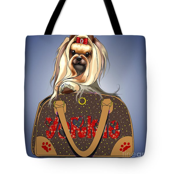 It's A Yorkie In A Bag  Tote Bag by Catia Cho
