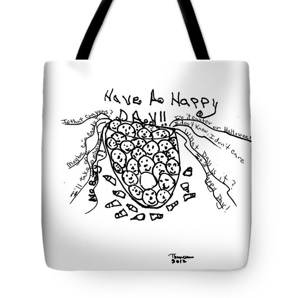 It's Happy Day Tote Bag by Thelma Harcum