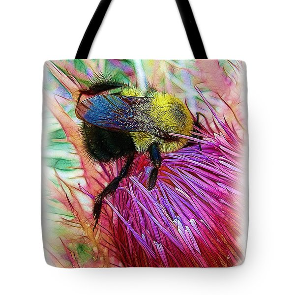 I've Fallen Into A Thistle And I Can't Get Out Tote Bag by Judi Bagwell