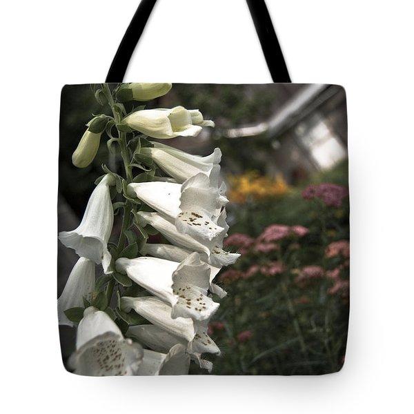 Ivory Foxglove Tote Bag