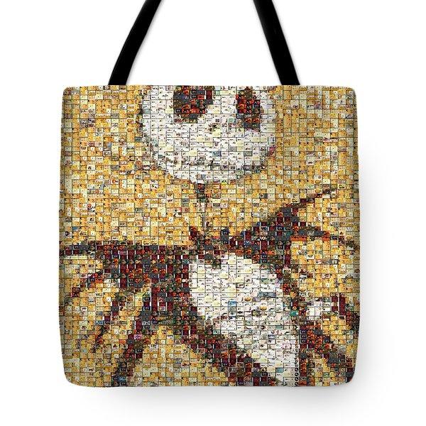 Jack Halloween Mosaic Tote Bag by Paul Van Scott