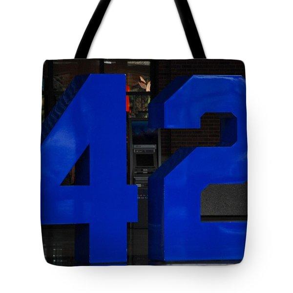Jackie Robinson 42 Tote Bag