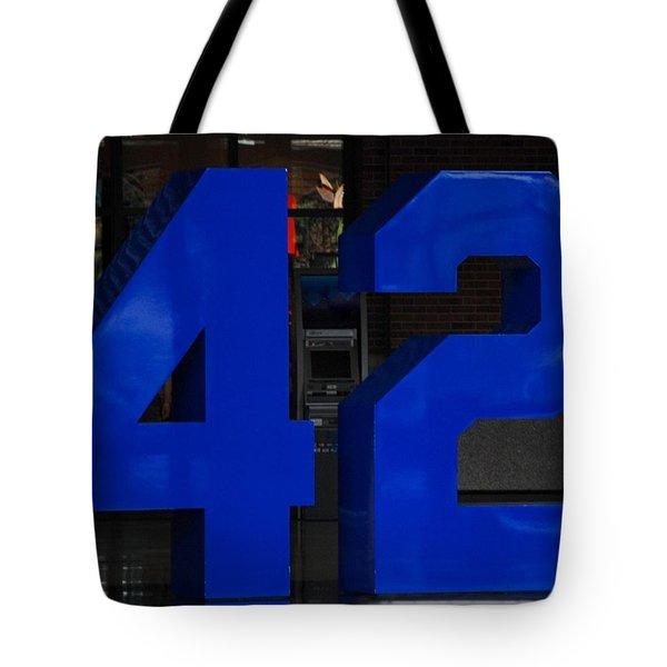 Jackie Robinson 42 Tote Bag by Rob Hans