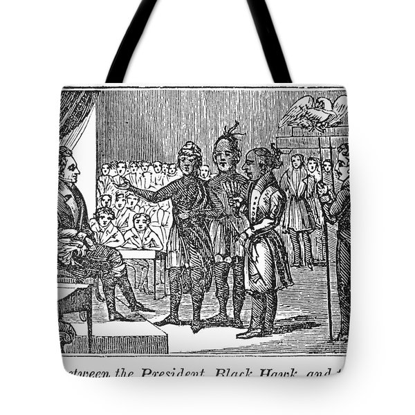 Jackson And Native Americans Tote Bag by Granger