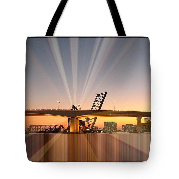 Jacksonville Rays Tote Bag by Farol Tomson