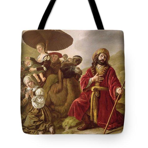 Jacob Seeking Forgiveness Of Esau Tote Bag by Jan Victoors