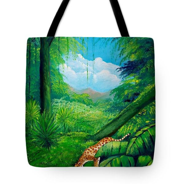 Jaguar Drinking Water Tote Bag