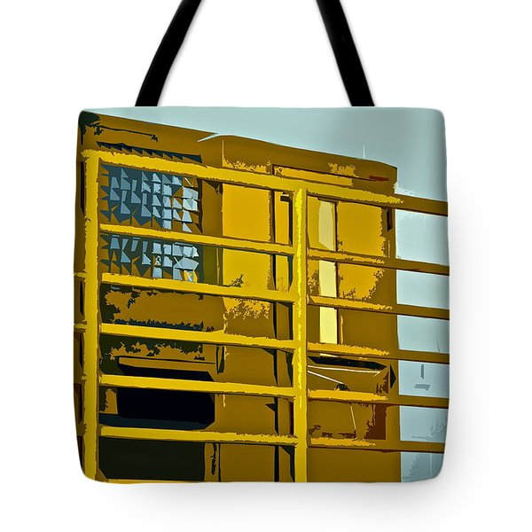 Jail Cell Tote Bag by Gwyn Newcombe