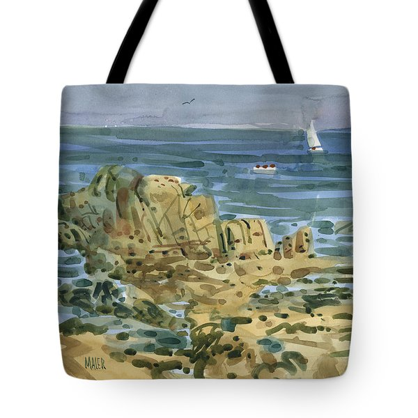 Tote Bag featuring the painting James's View by Donald Maier