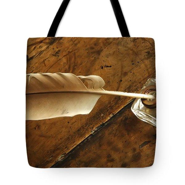 Tote Bag featuring the photograph Jane Austen's Pen by KG Thienemann