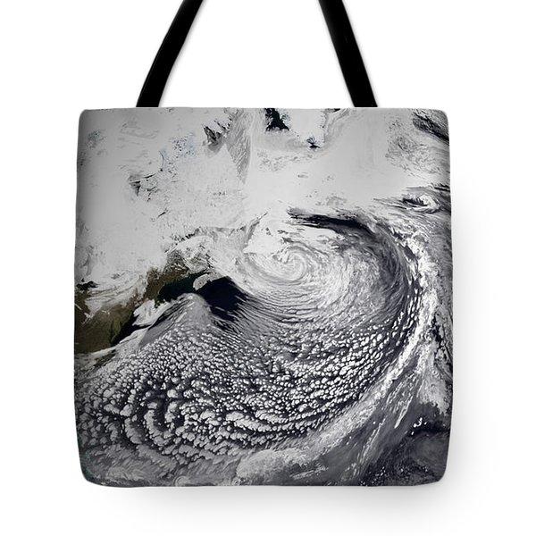 January 2, 2009 - Cloud Simulation Tote Bag by Stocktrek Images