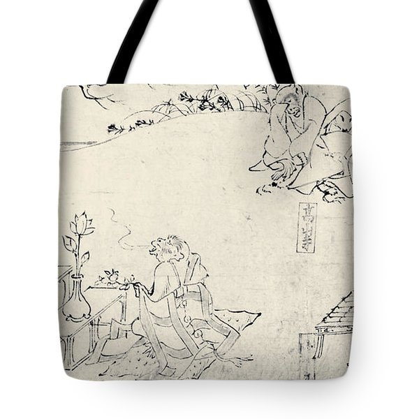 Japan: Animals As Humans Tote Bag by Granger