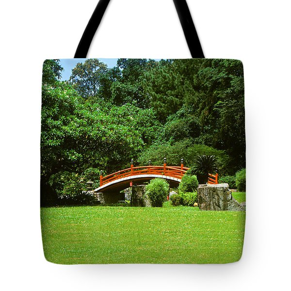 Japanese Garden Bridge 21m Tote Bag