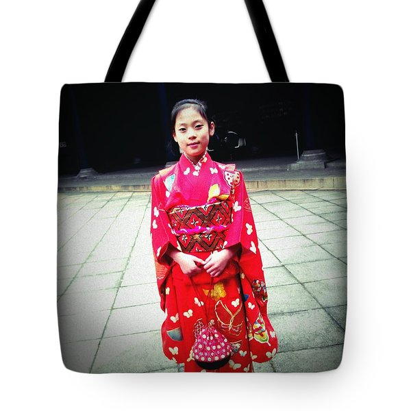 Japanese Girl Tote Bag by Eena Bo