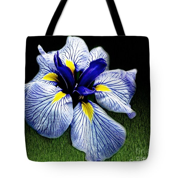 Japanese Iris Ensata - Botanical Wall Art Tote Bag