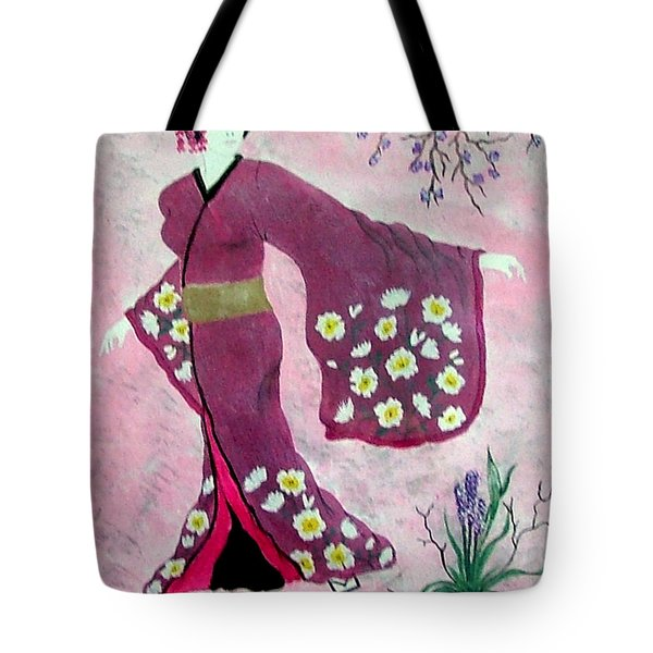 Japanese Lady Tote Bag