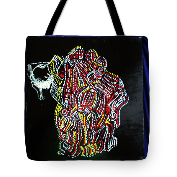 Tote Bag featuring the painting Japanese Opera - Noh by Gloria Ssali