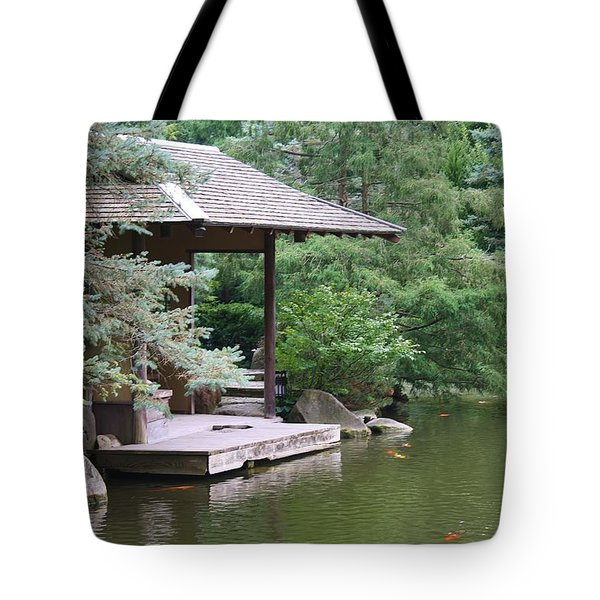 Japanese Tea House Tote Bag by Bruce Bley