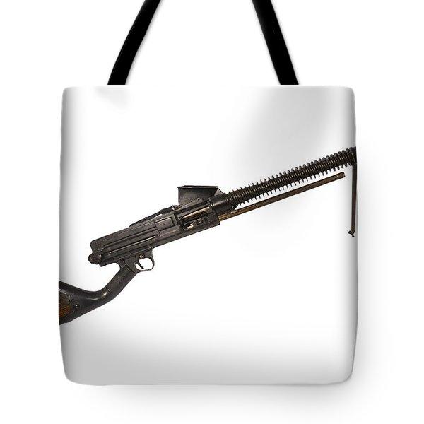 Japanese Type 11 Light Machine Gun Tote Bag by Andrew Chittock