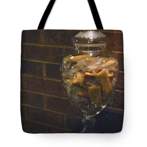 Jar Of Biscotti Tote Bag by Sandi OReilly