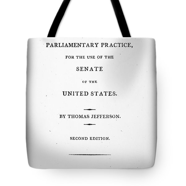 Jefferson: Title Page, 1810 Tote Bag by Granger