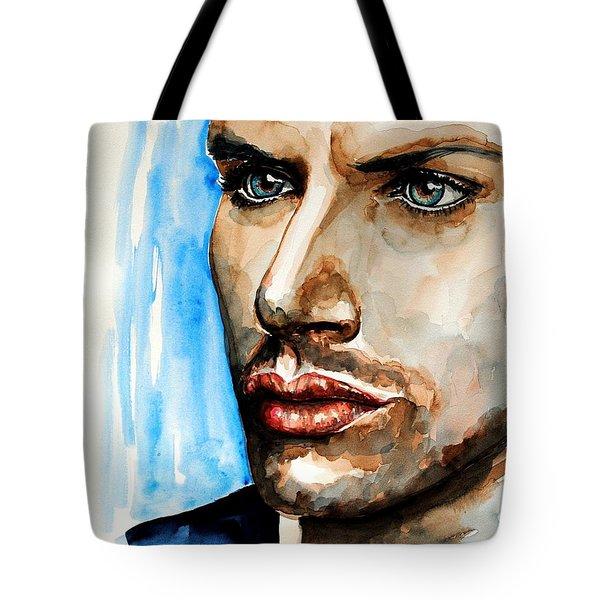 Jensen Ackles Tote Bag by Francoise Dugourd-Caput