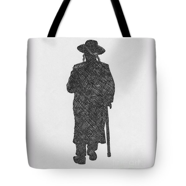 Tote Bag featuring the drawing Jerusalem by Annemeet Hasidi- van der Leij