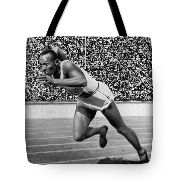 Jesse Owens (1913-1980) Tote Bag by Granger