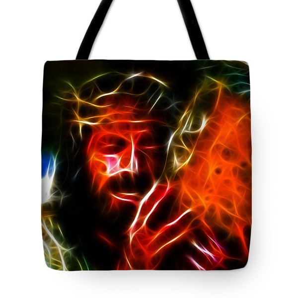 Jesus Carrying The Cross No2 Tote Bag by Pamela Johnson