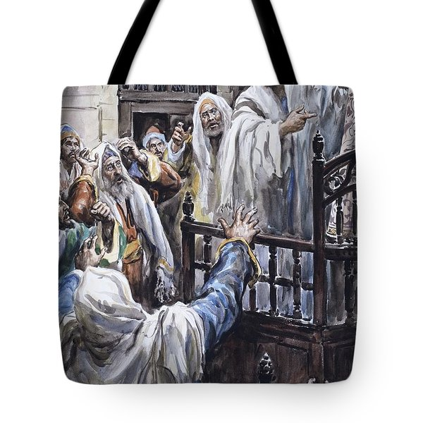 Jesus  Tote Bag by Henry Coller