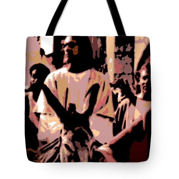 Jesus Rides Into Jerusalem Tote Bag by George Pedro