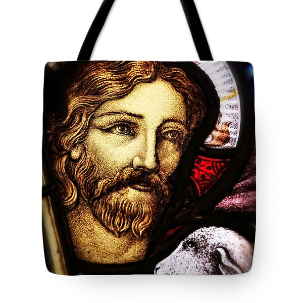 Tote Bag featuring the photograph Jesus The Good Shepard by Verena Matthew