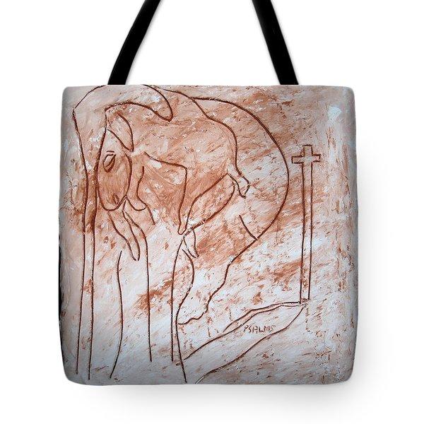 Jesus The Good Shepherd - Tile Tote Bag by Gloria Ssali