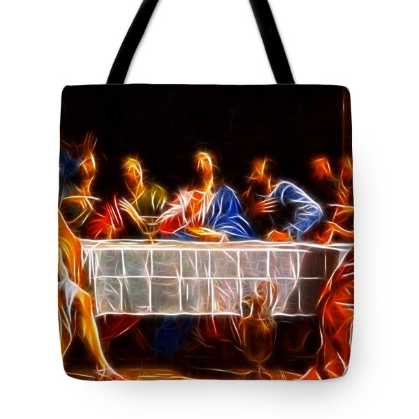 Jesus The Last Supper Tote Bag by Pamela Johnson