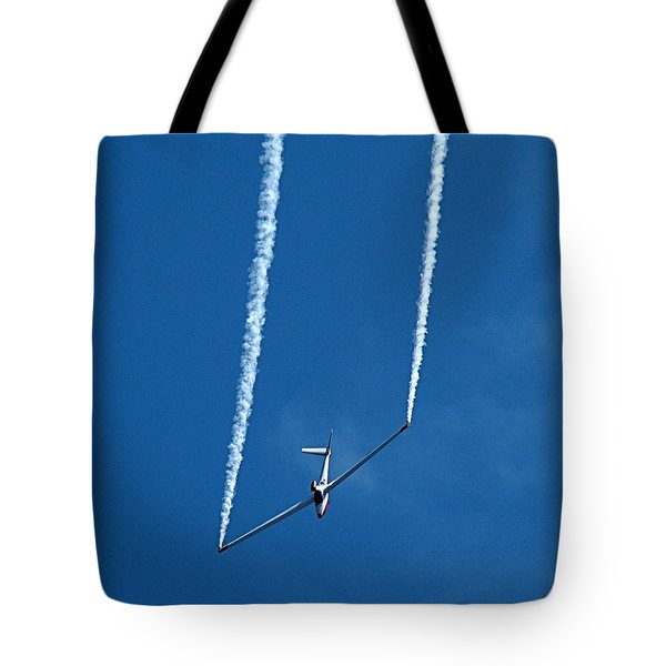 Jet Powered Glider Tote Bag by Nick Kloepping