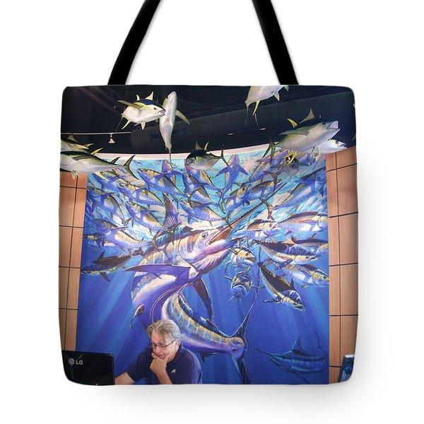 Jetson Mural Tote Bag
