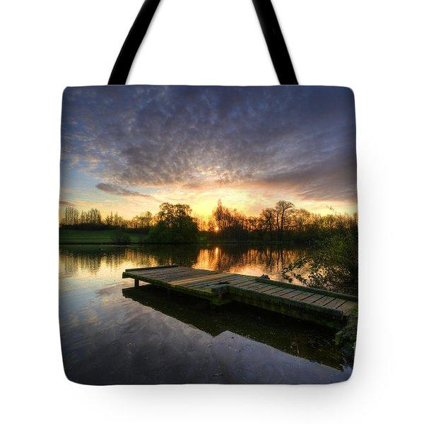 Jetty Sunrise 2.0 Tote Bag by Yhun Suarez