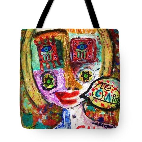 Jewish Angel Tote Bag by Sandra Silberzweig
