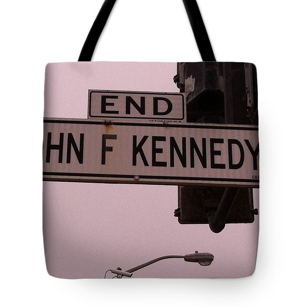 Tote Bag featuring the photograph Jfk Street by Bill Owen