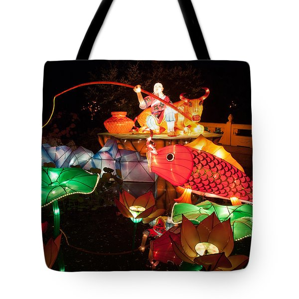 Jiang Tai Gong Fishing Tote Bag by Semmick Photo